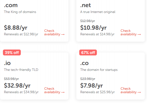 Sample Pricing as of 2/21